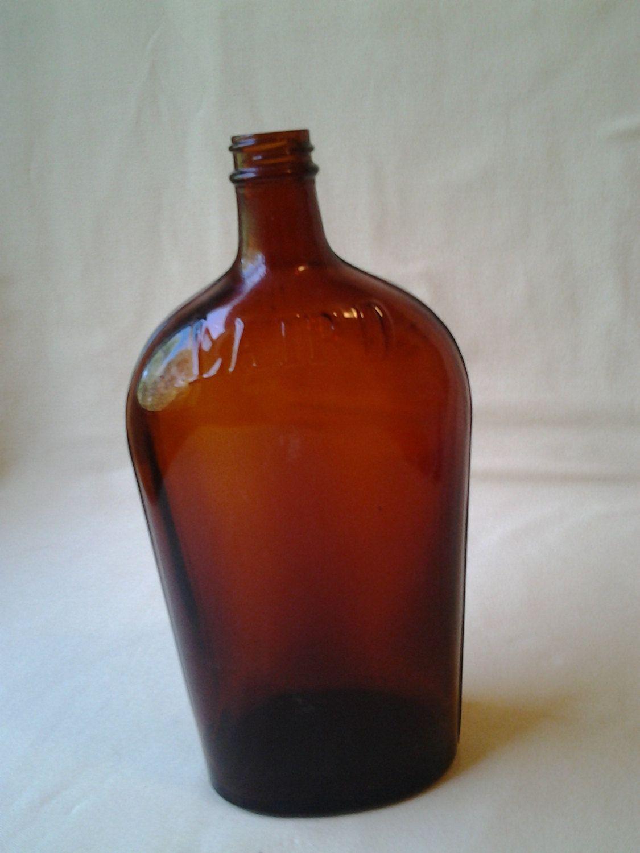 Vintage Laird Brandy Bottle Amber Brown Glass Liquor Bottle