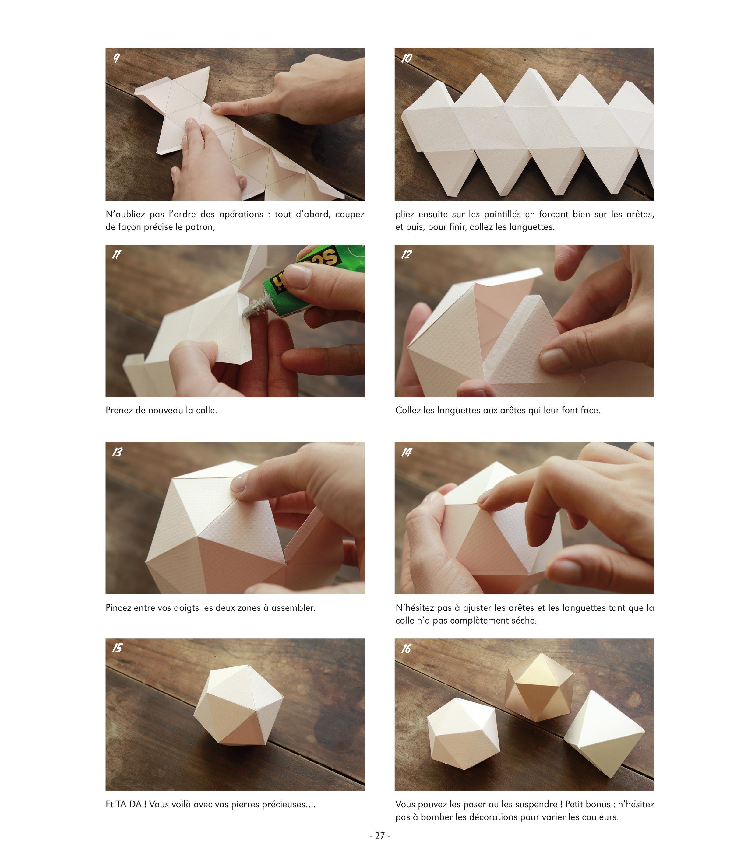 Comment Faire Des Boules En Papier diamant patron | comment fabriquer un, déco noel fait main