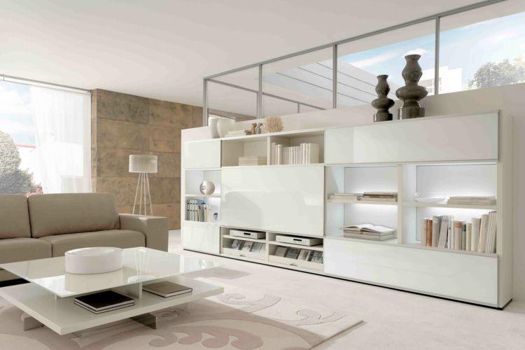 Wohnzimmer einrichten Ideen in Weiß, Schwarz und Grau Farben - wohnzimmer grau beige weiss