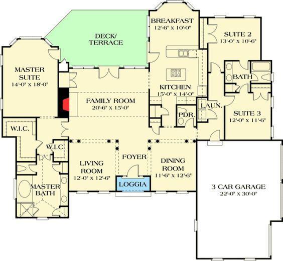 Plan 1743lv Old World Design Luxury Plan House Floor Plans Floor Plans