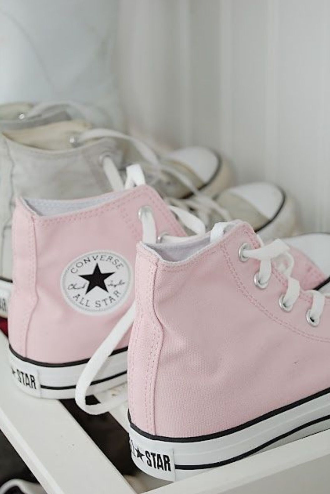 f27a030203138 Pink high-top Chucks!! I have red ones
