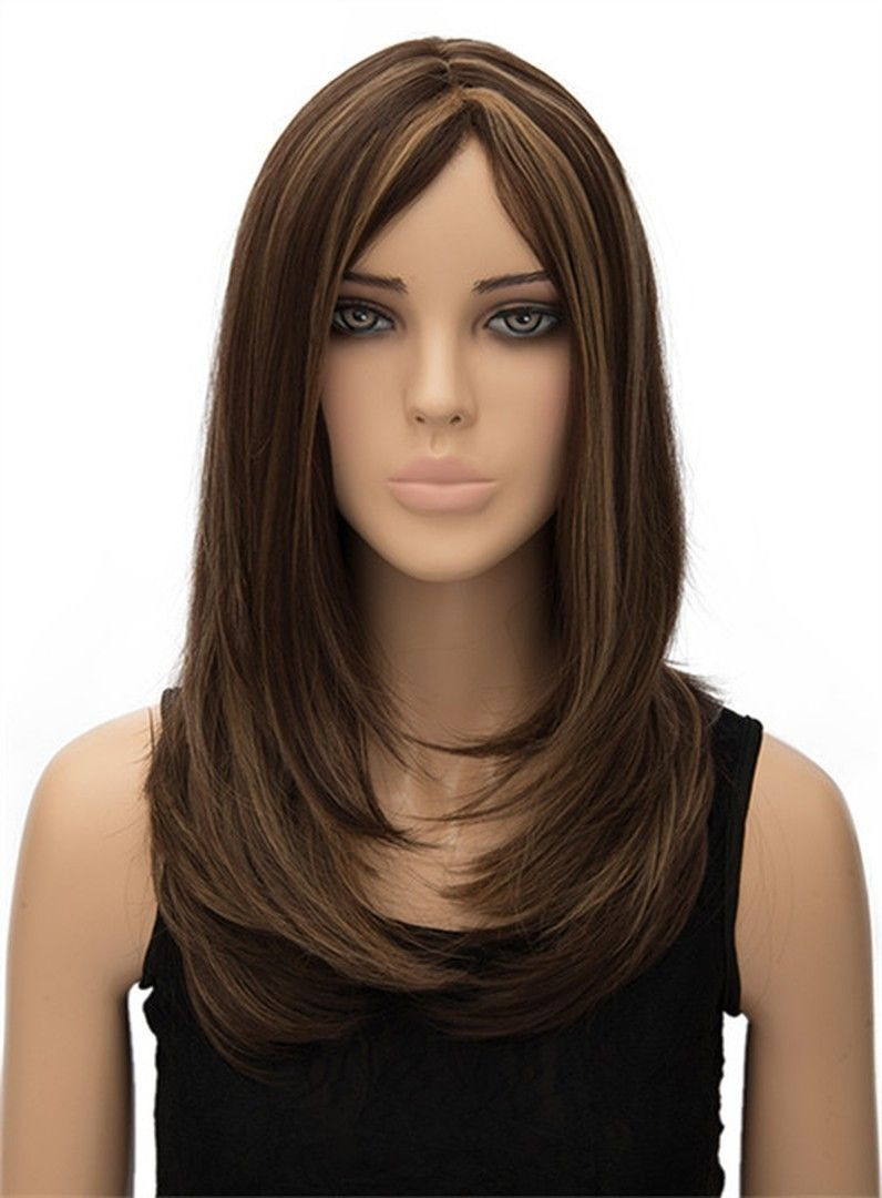 Best Selling Layered Long Straight Capless Synthetic Hair