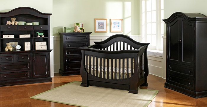 Davenport Crib From Baby Appleseed Black Baby Cribs Black