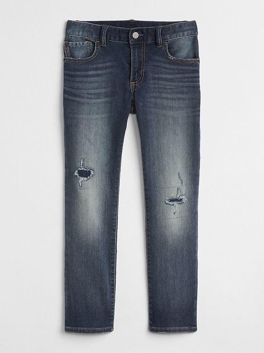 309ec8e1e5f9 Rip & Repair Slim Fit Jeans in Supersoft | Products | Jeans, Gap uk, Gap