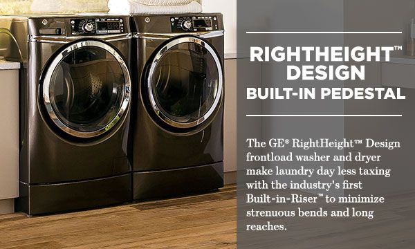 Ge 8 1 Cu Ft Rightheight Front Load Electric Dryer With