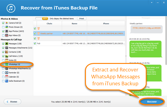 Free Ways To Recover Whatsapp Messages From Iphone Backup