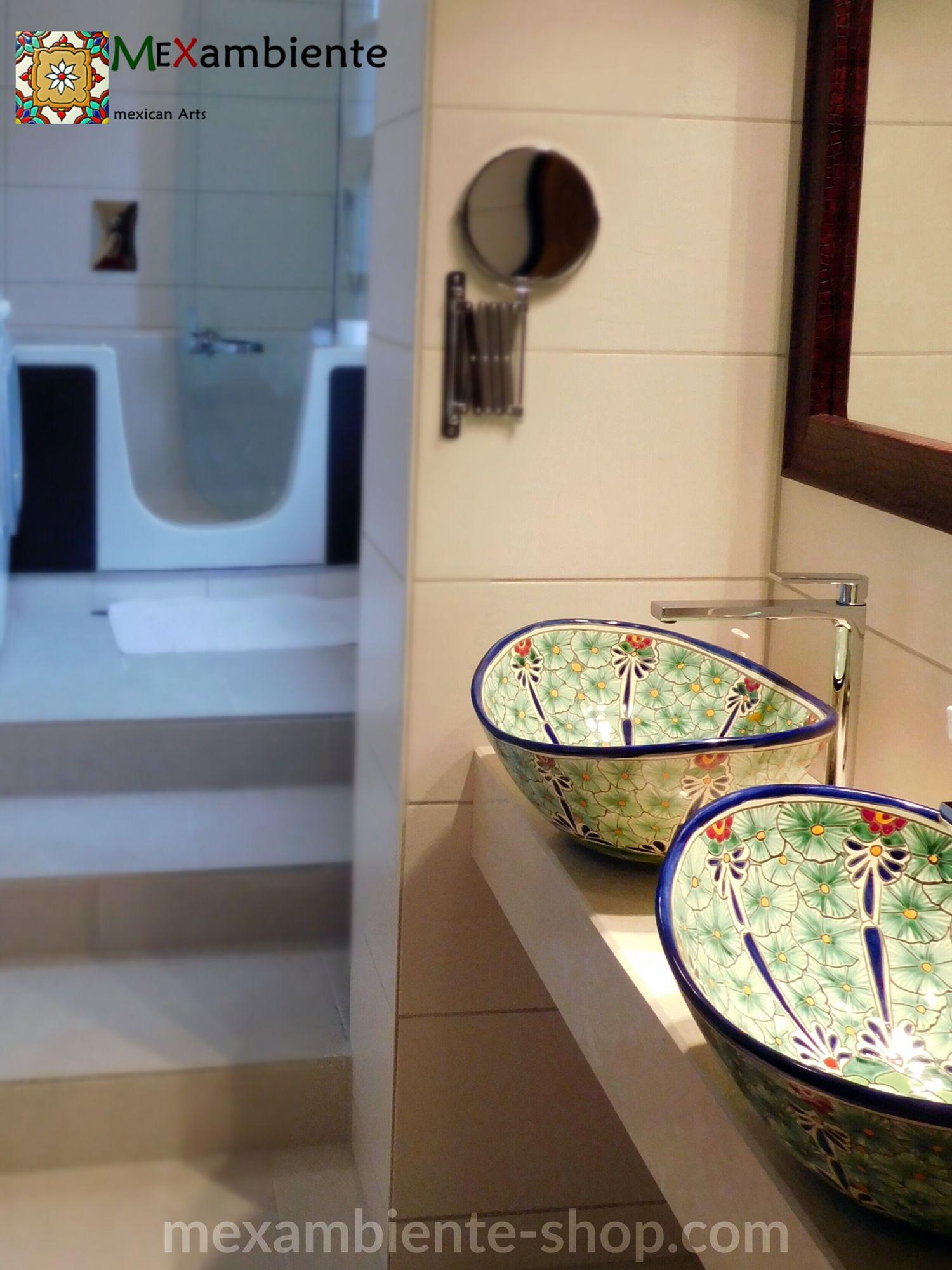 Dieses Besondere Bunte Waschbecken Von Mexambiente Versprüht In Ihrem  Badezimmeru2026