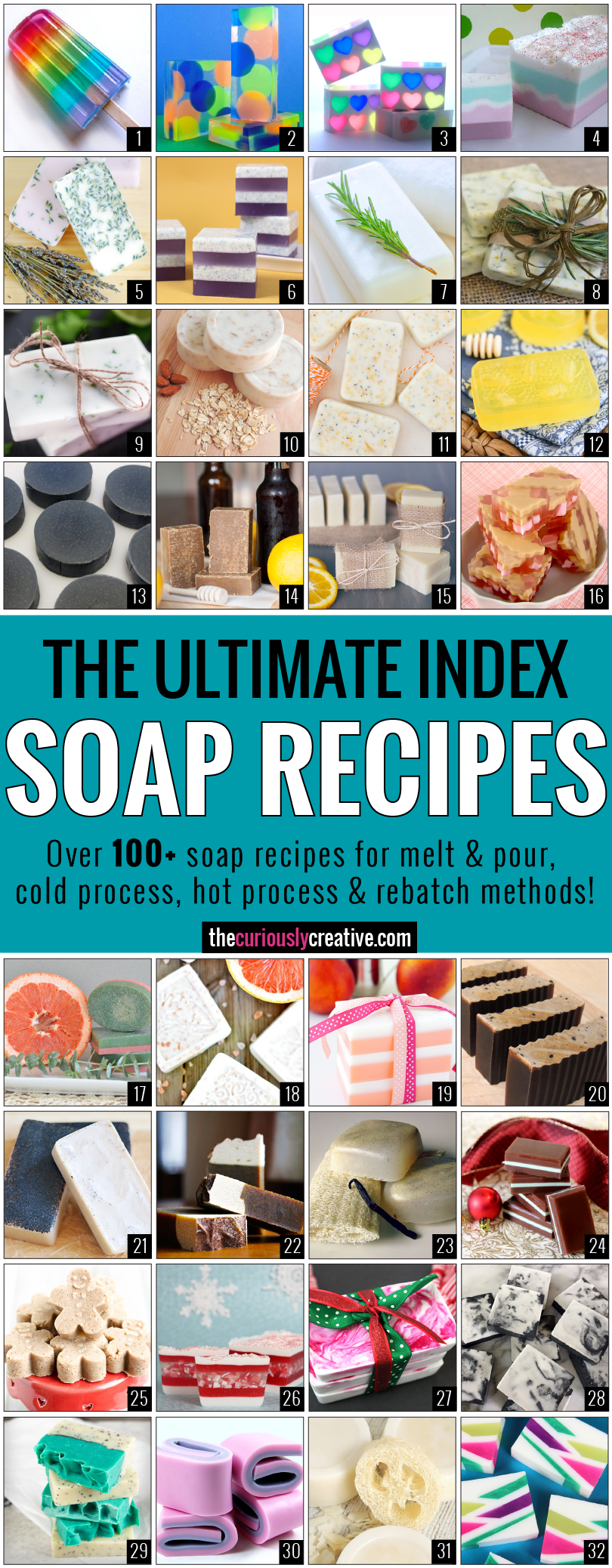 The Ultimate Soap Recipe Index - The Curiously Creative