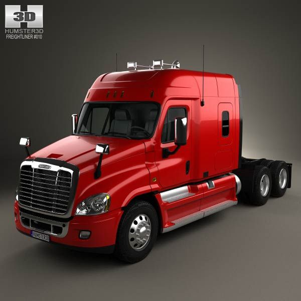 3d Model Of Freightliner Cascadia Xt Tractor Truck 2007 Freightliner Cascadia Freightliner Trucks Freightliner