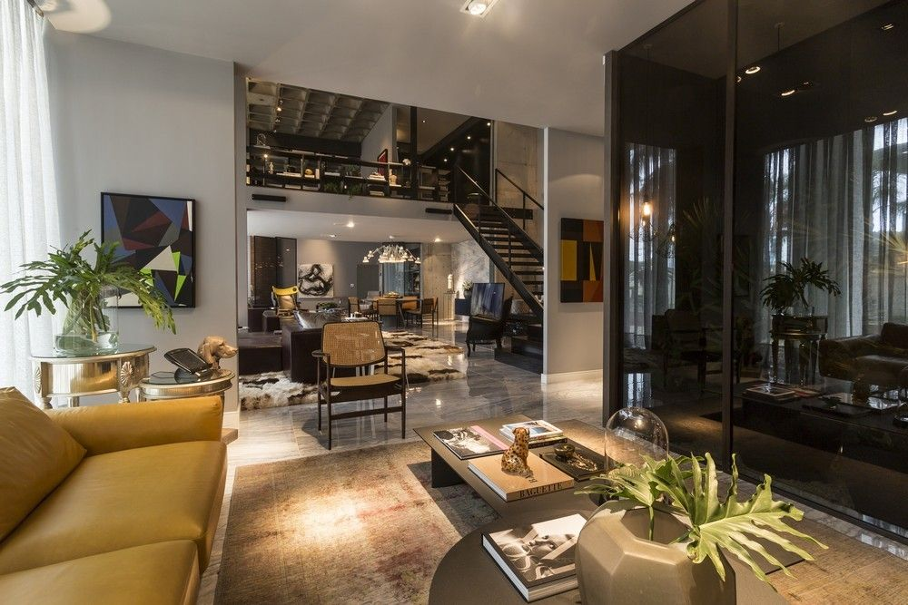An Artful Loft Design  Loft Design Open Concept And Lofts Classy Interior Design Open Concept Living Room 2018