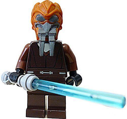 Lego Star Wars Plo Koon Minifigur + blaues Laserschwert