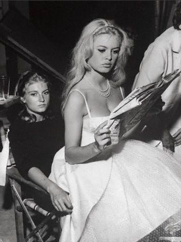Brigitte Bardot and her sister, 1959
