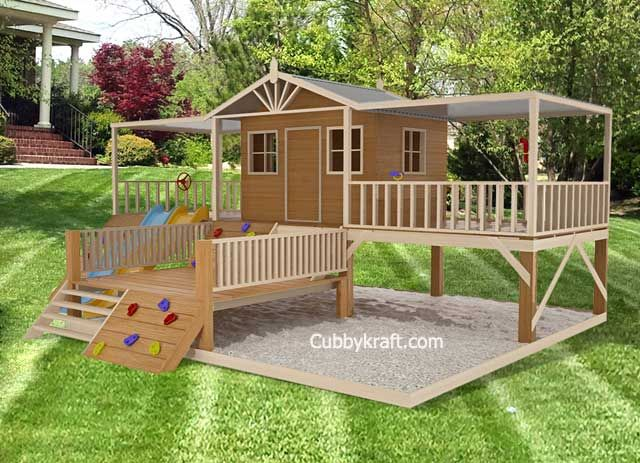 Timbertop Mansion Cubby House Playhouse Playground Equipment Backyard Playground Playground Equipment Diy Play Houses