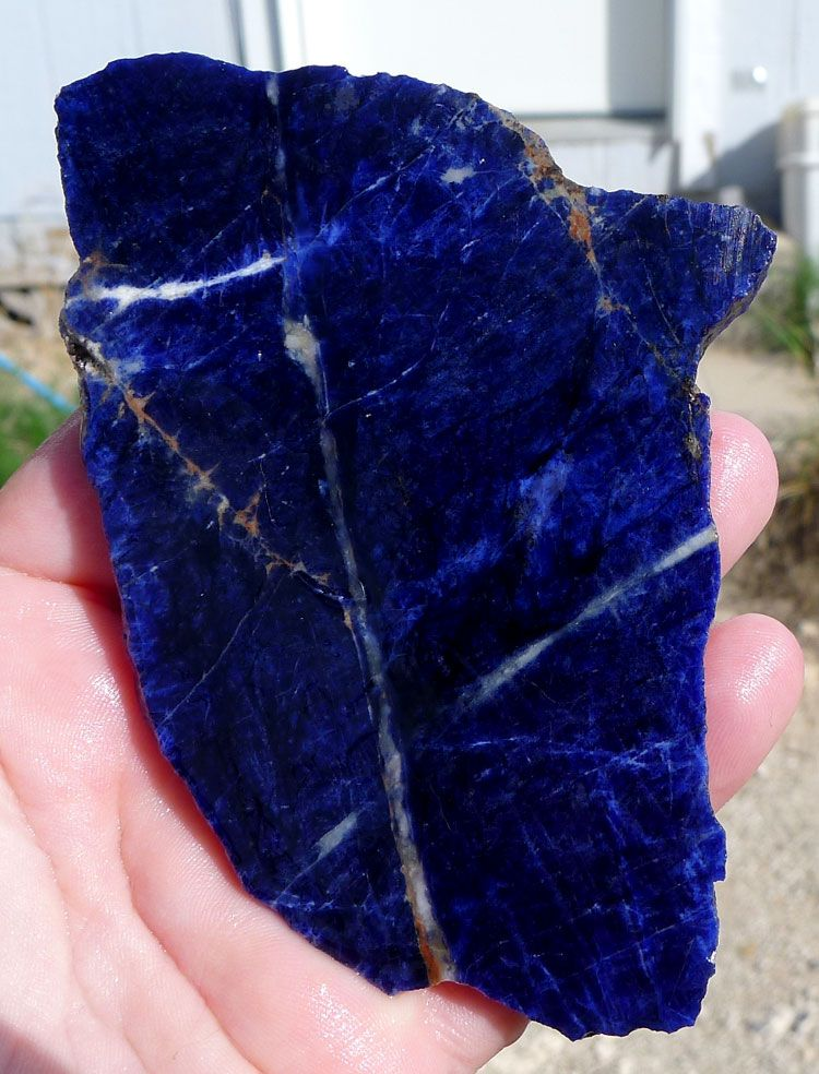 ZSOLD / Sodalite Slab, 106x76x6 8mm   Slabs for Lapidary