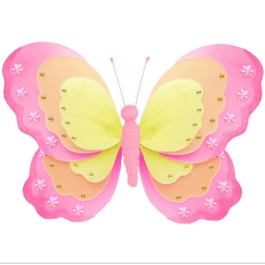 Not too bold and not too soft, this tri-winged butterfly decoration ...