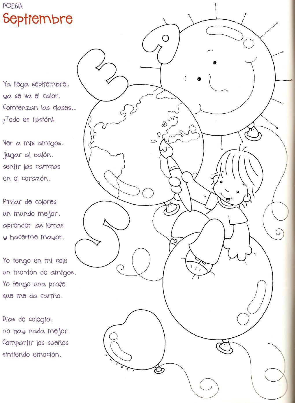 Poesia Septiembre Poemas Infantiles Poesias Infantiles Poesía Para Niños