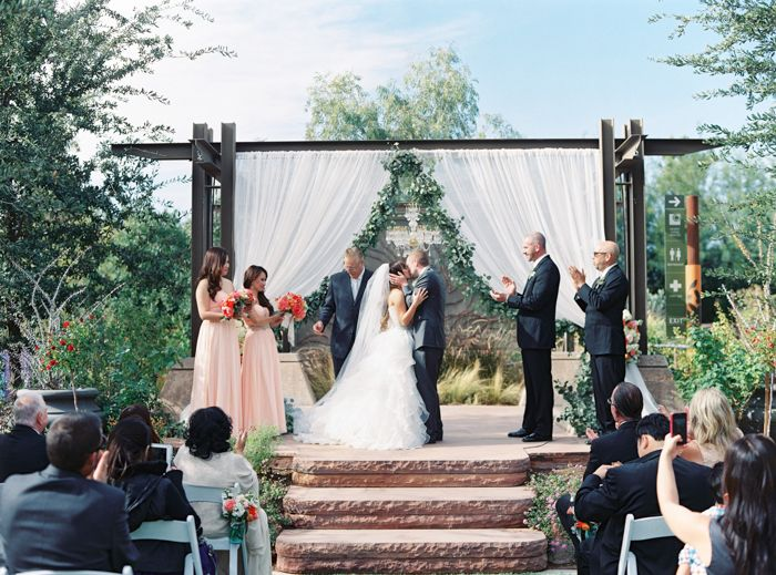 Desert Arboretum Vegas Wedding Photo Springs Preserve