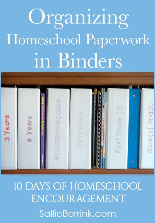 Organizing Homeschool Paperwork In Binders Free Printable A Quiet Simple Life With Sallie Borrink Homeschool Organization Homeschool Encouragement Homeschool Binder