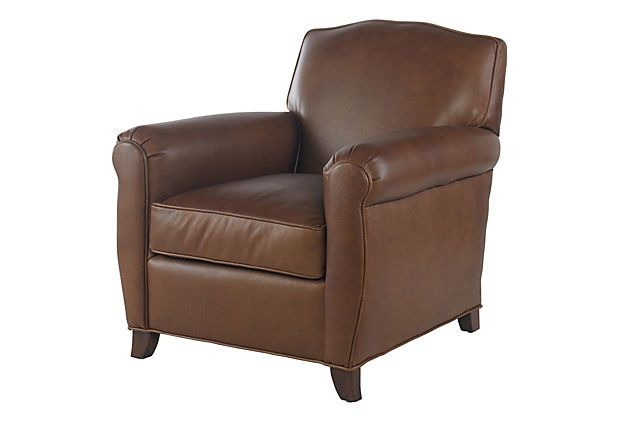 Dennis Leather Club Chair on OneKingsLane.com