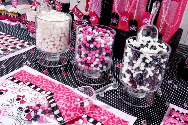 Girls Pirate Party Candy Buffet