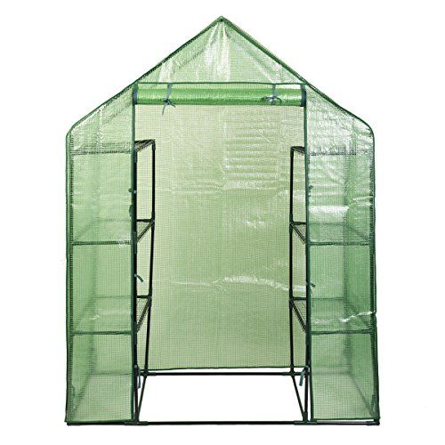 Giantex Portable Mini Walk In Outdoor 4 Tier 8 Shelves Greenhouse You Can Find More Details By Visiting Th Walk In Greenhouse Portable Greenhouse Greenhouse