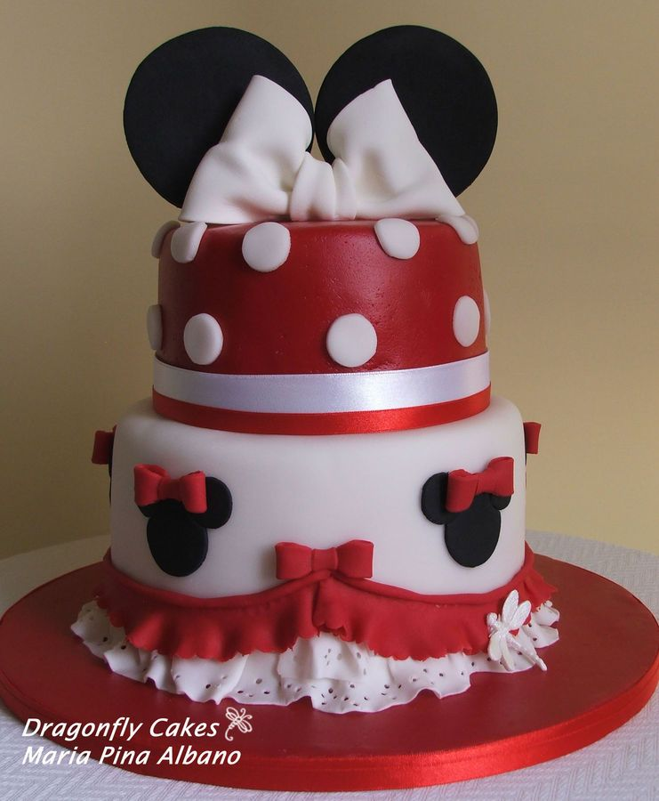 Pleasing Mnnie Cake With Images Minnie Mouse Birthday Cakes Minnie Funny Birthday Cards Online Overcheapnameinfo
