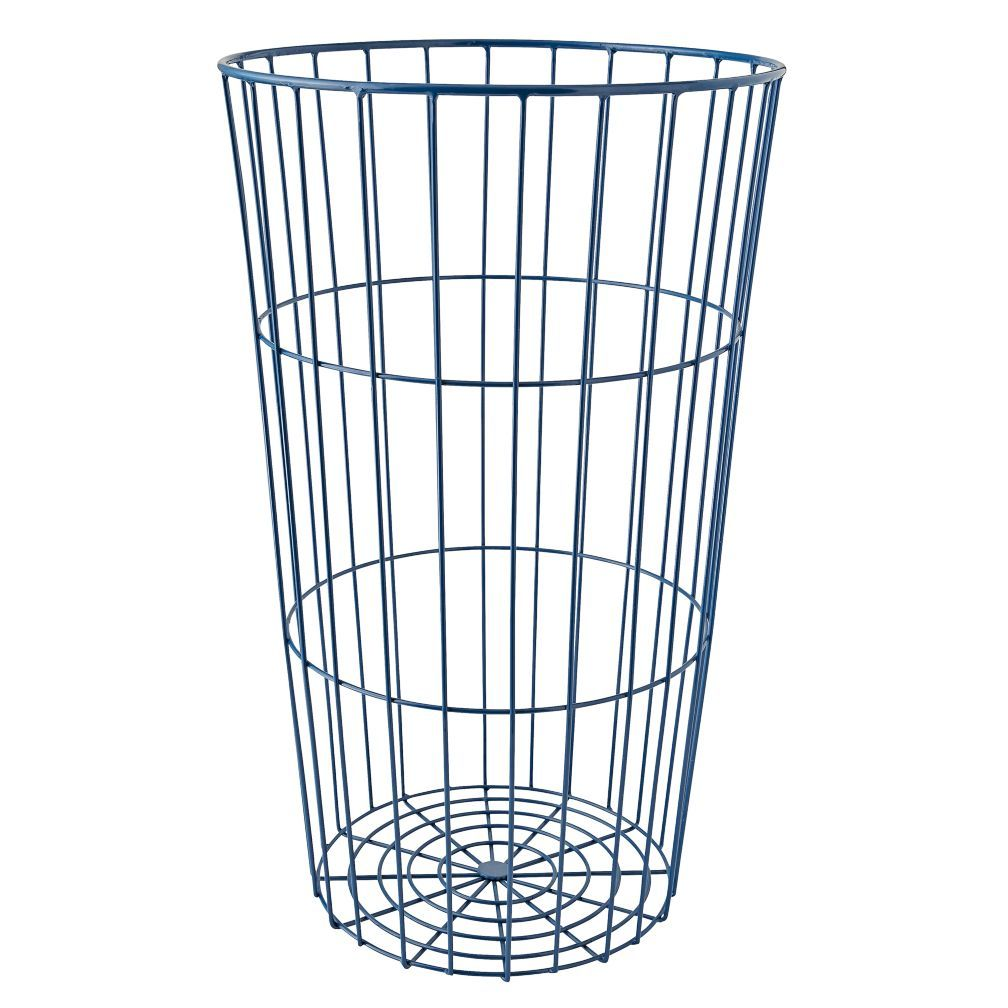 Shop Blue Wire Ball Bin.  Inspired by vintage styles but designed for serious storage, our Flea Market Wire Ball Bin can handle anything your kid throws at it (or into it).