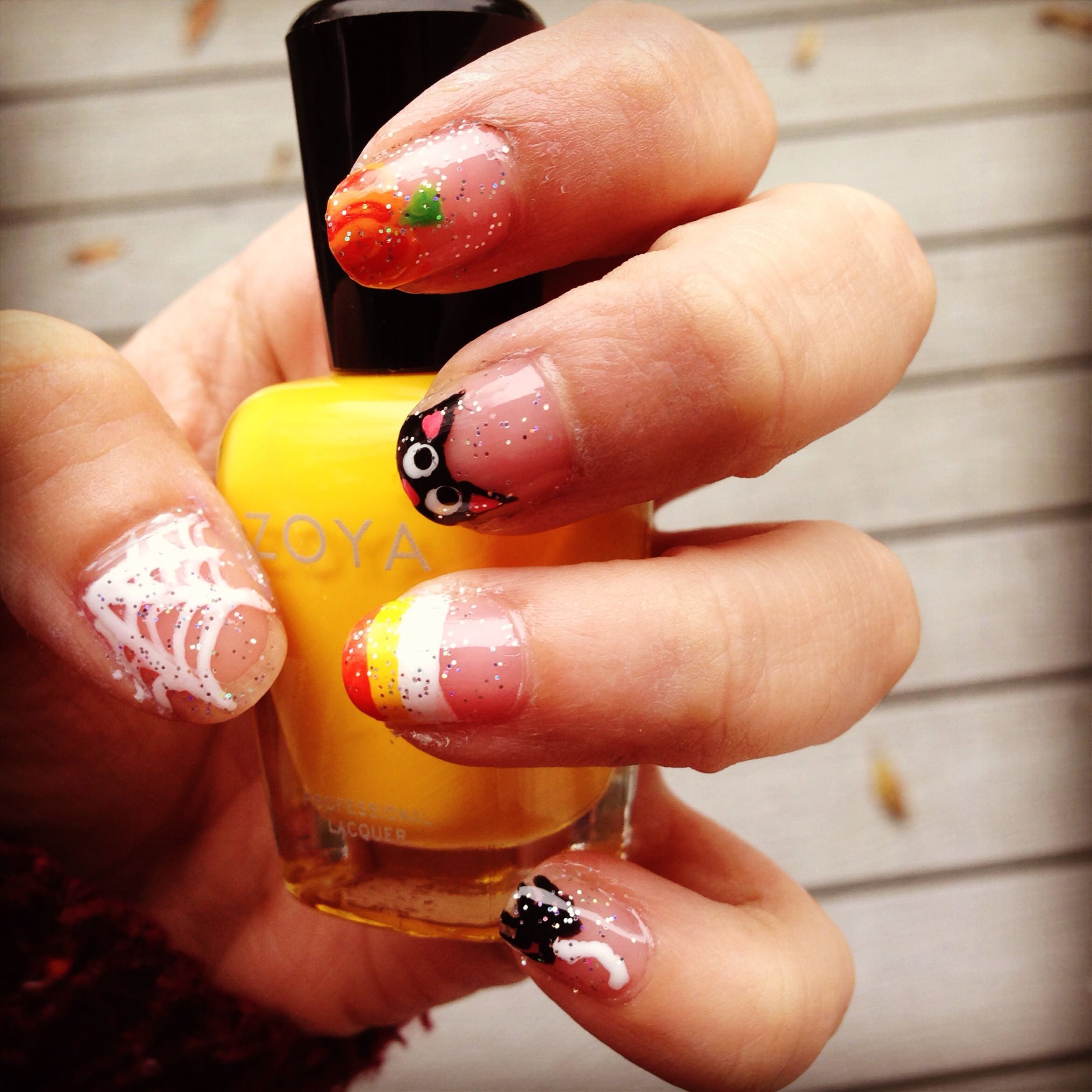 Halloween nails :) finally found some time to be festive!