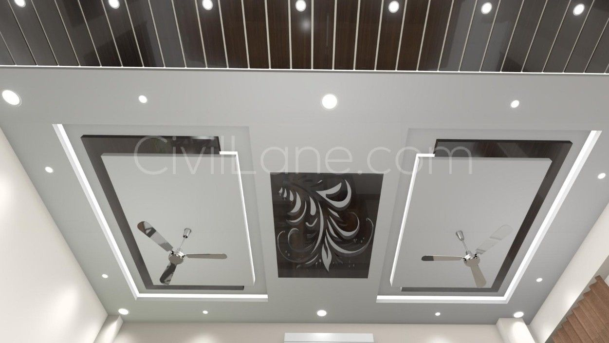 False Ceiling Design For Big Living Room Ceiling Design Li