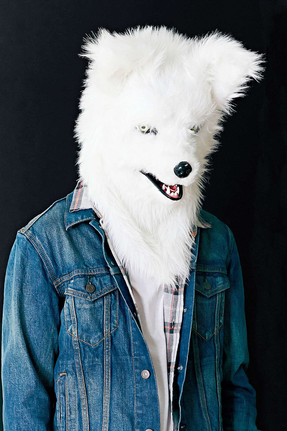 Talking White Wolf Mask...whaaaaaaaat??? why? | Ha! | Pinterest ...