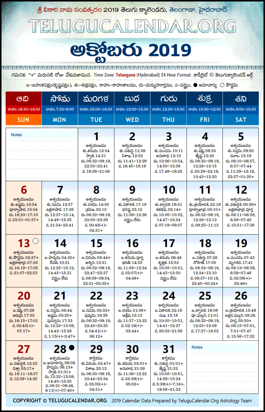 october 2019 calendar telugu october october2019 october2019calendar