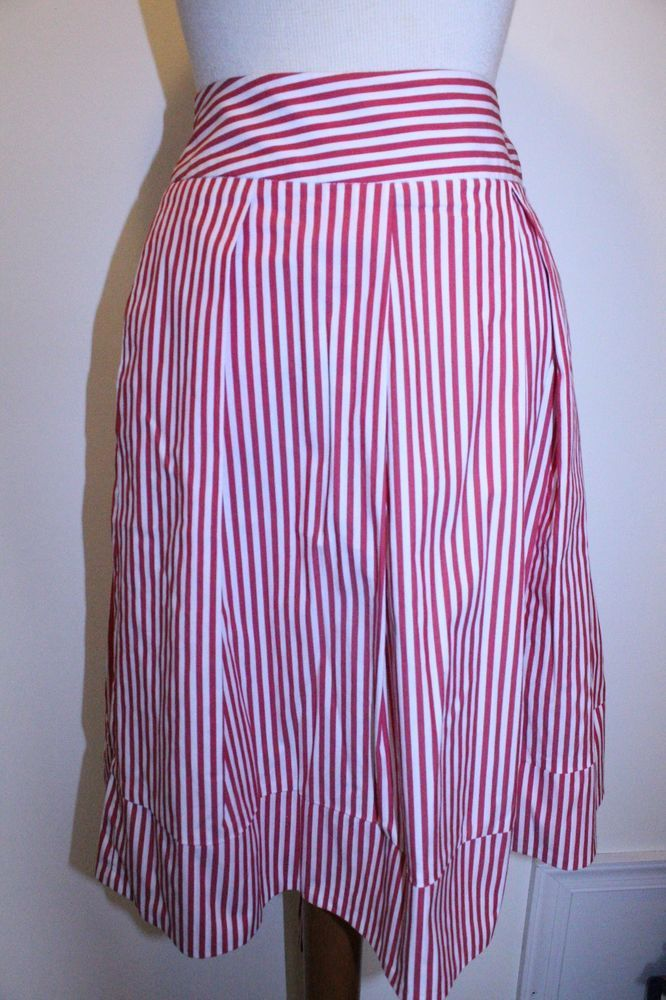 Cato Skirt 14 Red White Plus Size Striped Bow Front Midi Skirt #Cato #ALine