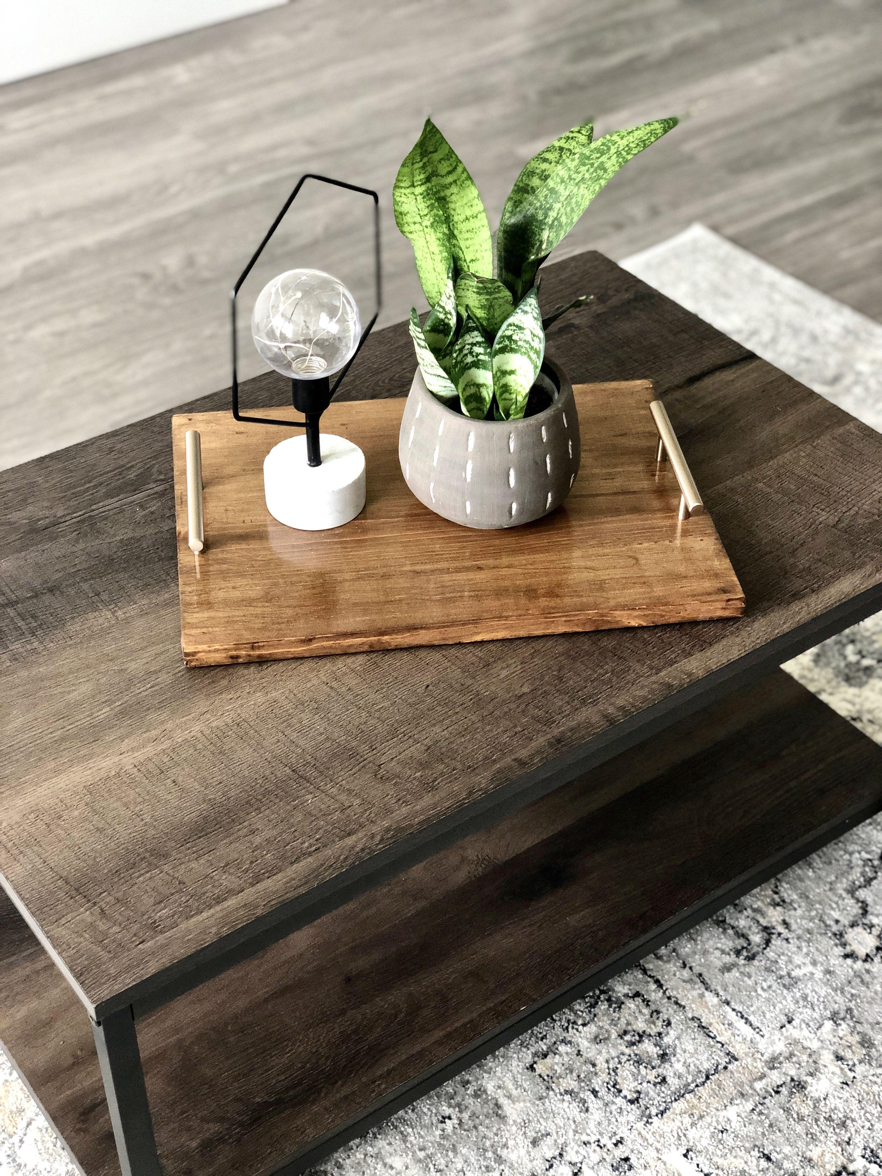 Handmade Modern Wooden Serving Tray Custom Serving Tray Wooden Serving Trays Coffee Table Tray [ 4032 x 3024 Pixel ]
