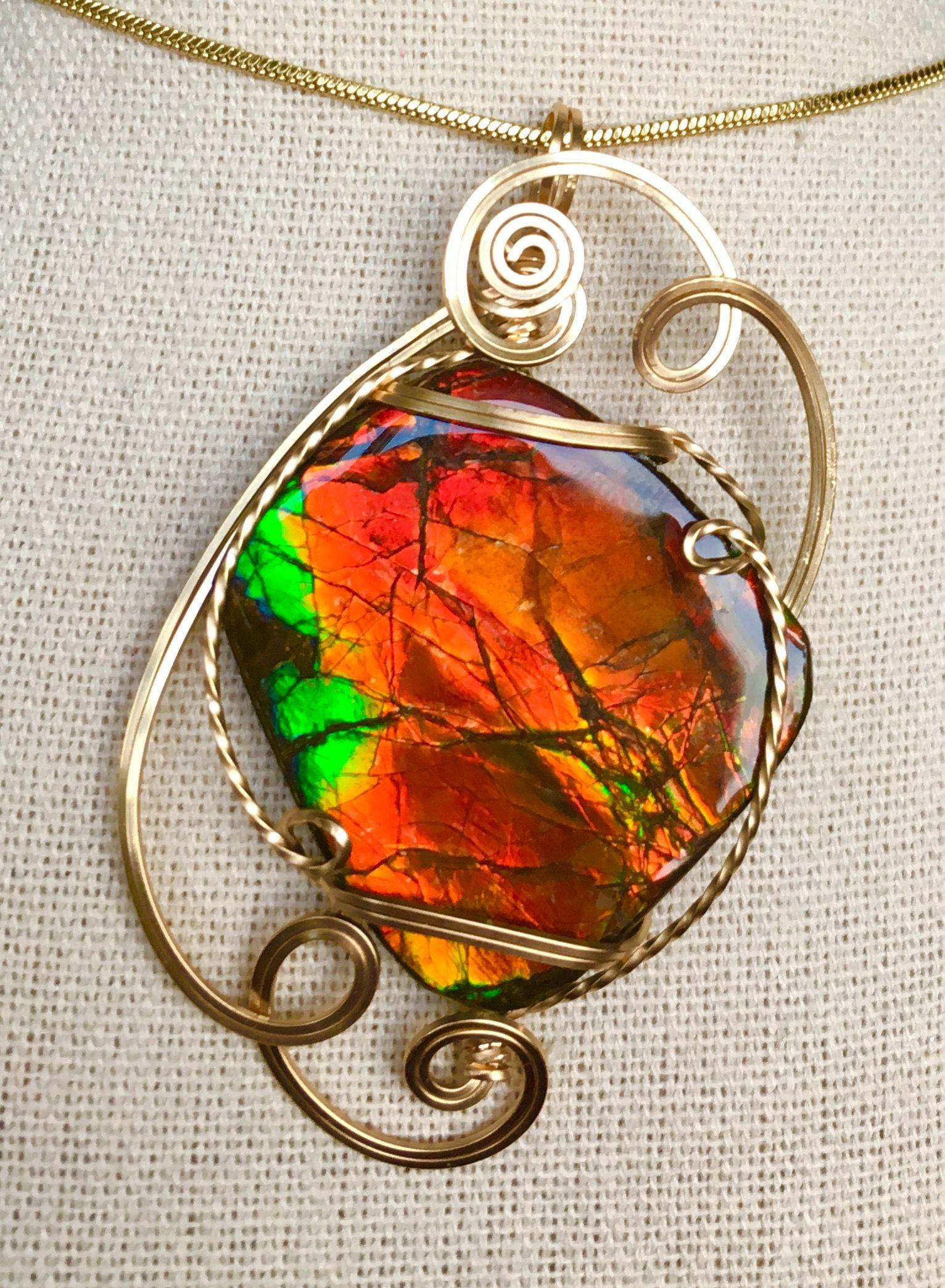 ae0ec18d77c94c Ammolite Jewelry, Canada Eh, Ruby Lane, Gem, Gemstones, Jewels, Gemstone