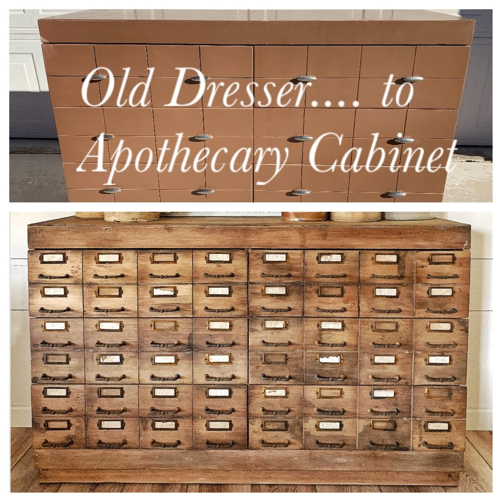 Old Dresser To Apothecary Cabinet