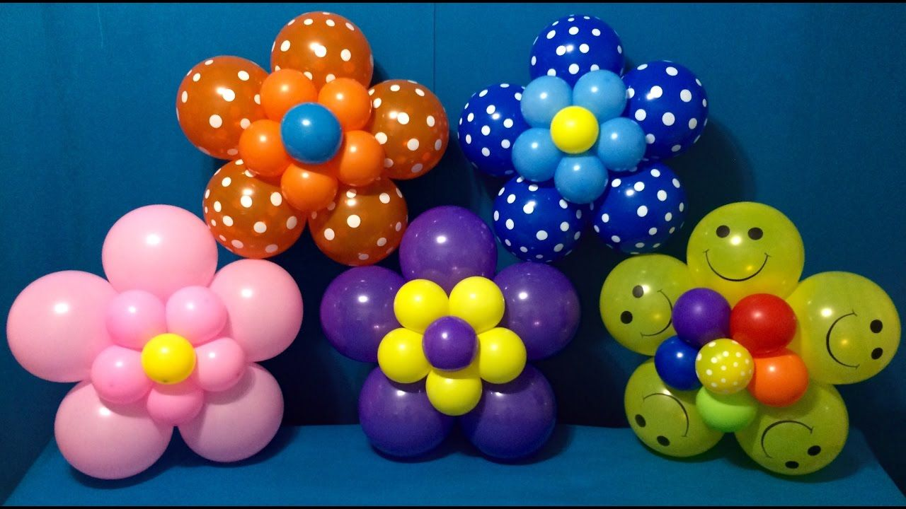 Dollar Store Balloon Decor Easy Giant Flowers