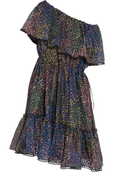 lurex firework print off-shoulder dress - Blue Chloé Clearance Best Place Cheap Footlocker Pictures Clearance Cheap Price Free Shipping In China Whole World Shipping 5uEy0