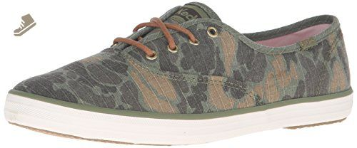 Keds Women's Champion Camo Ripstop Fashion Sneaker, Olive, 9 M US - Keds sneakers for women (*Amazon Partner-Link)