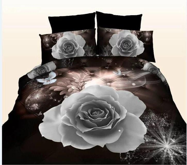 ROSE LIME GREEN DUVET COVER SET WITH PILLOW CASE IN ALL SIZES ~ FAST DELIVERY~