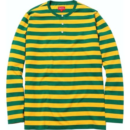 Supreme: Striped Henley - Green | My Style | Pinterest | Henleys