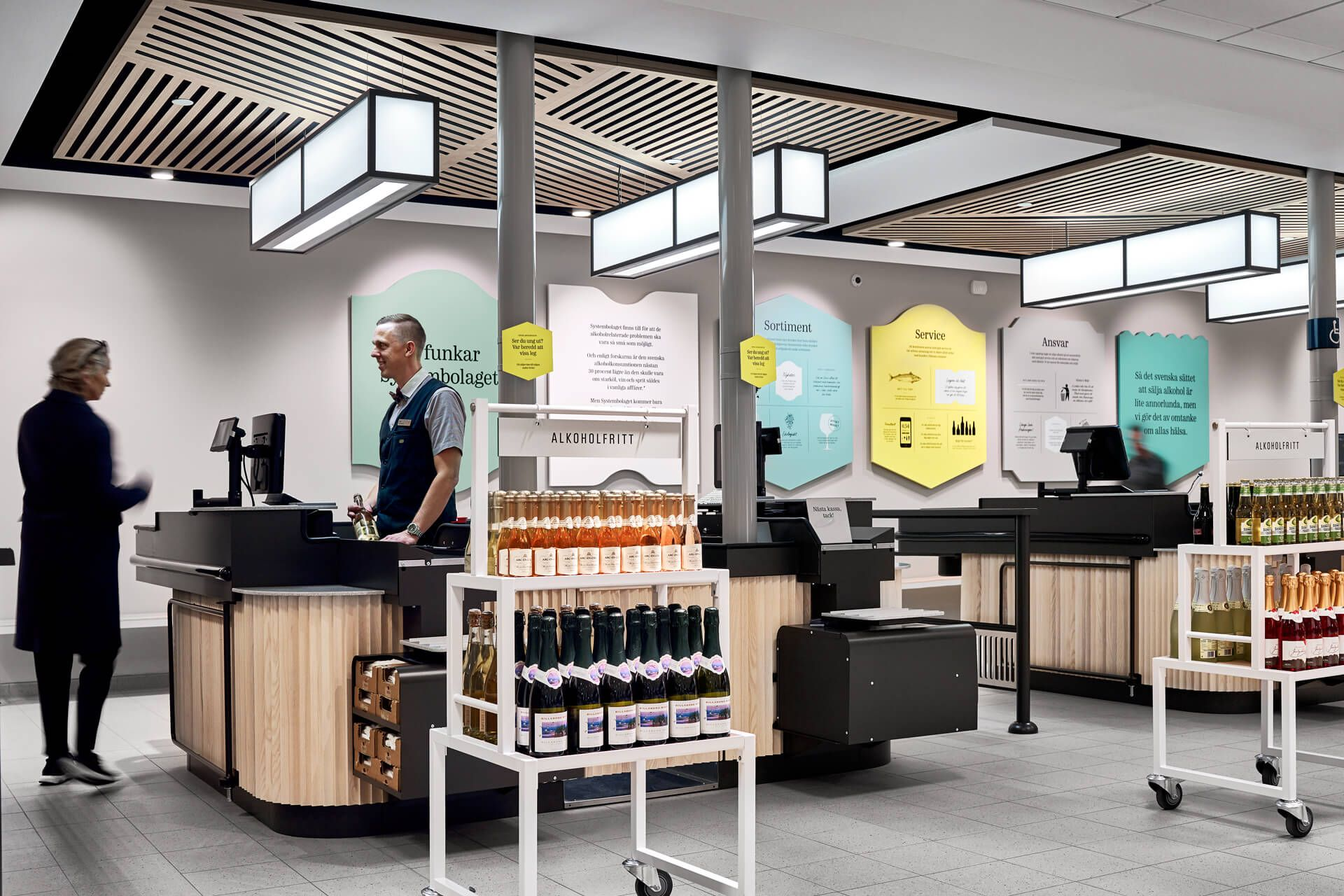 Design Interieur Granby Systembolaget Caseimage Kassa1 Granby Vm And Display