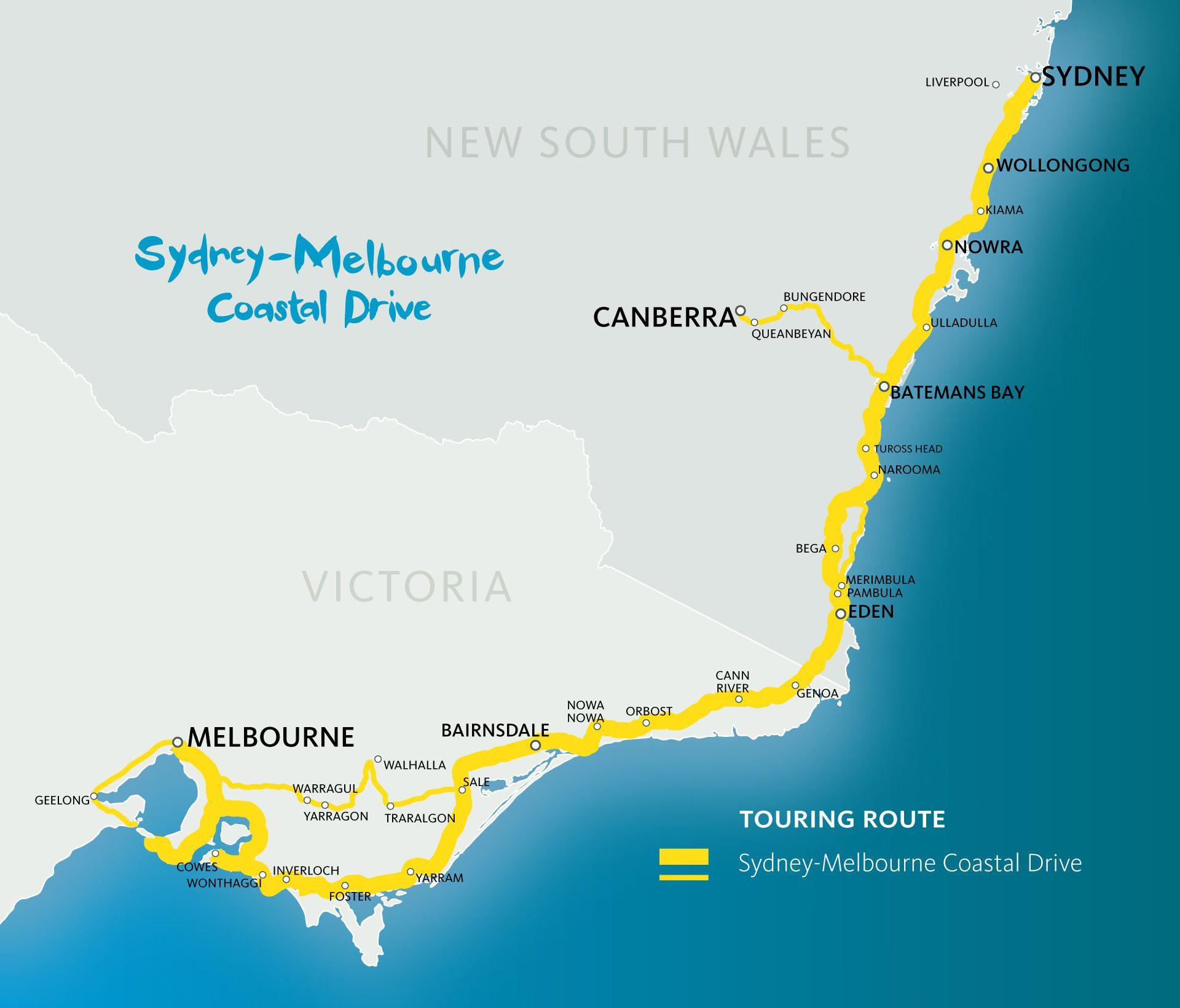 Sydney Melbourne Coastal Drive Sydney Melboune Touring Australian Road Trip Melbourne Australia Itinerary