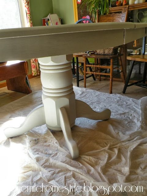 Dining Table With Rustoleum Winter Fog