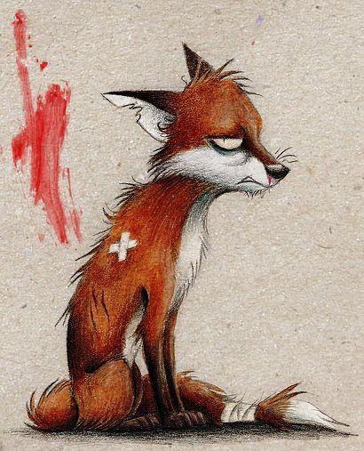 это отдельный картинка депрессивного лиса разобраться значении тату