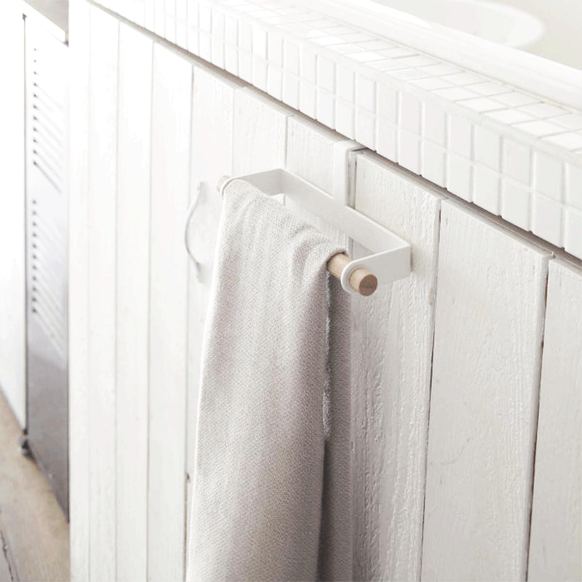 Comment Fabriquer Un Accroche Torchon crochet porte torchon en métal blanc | porte torchon