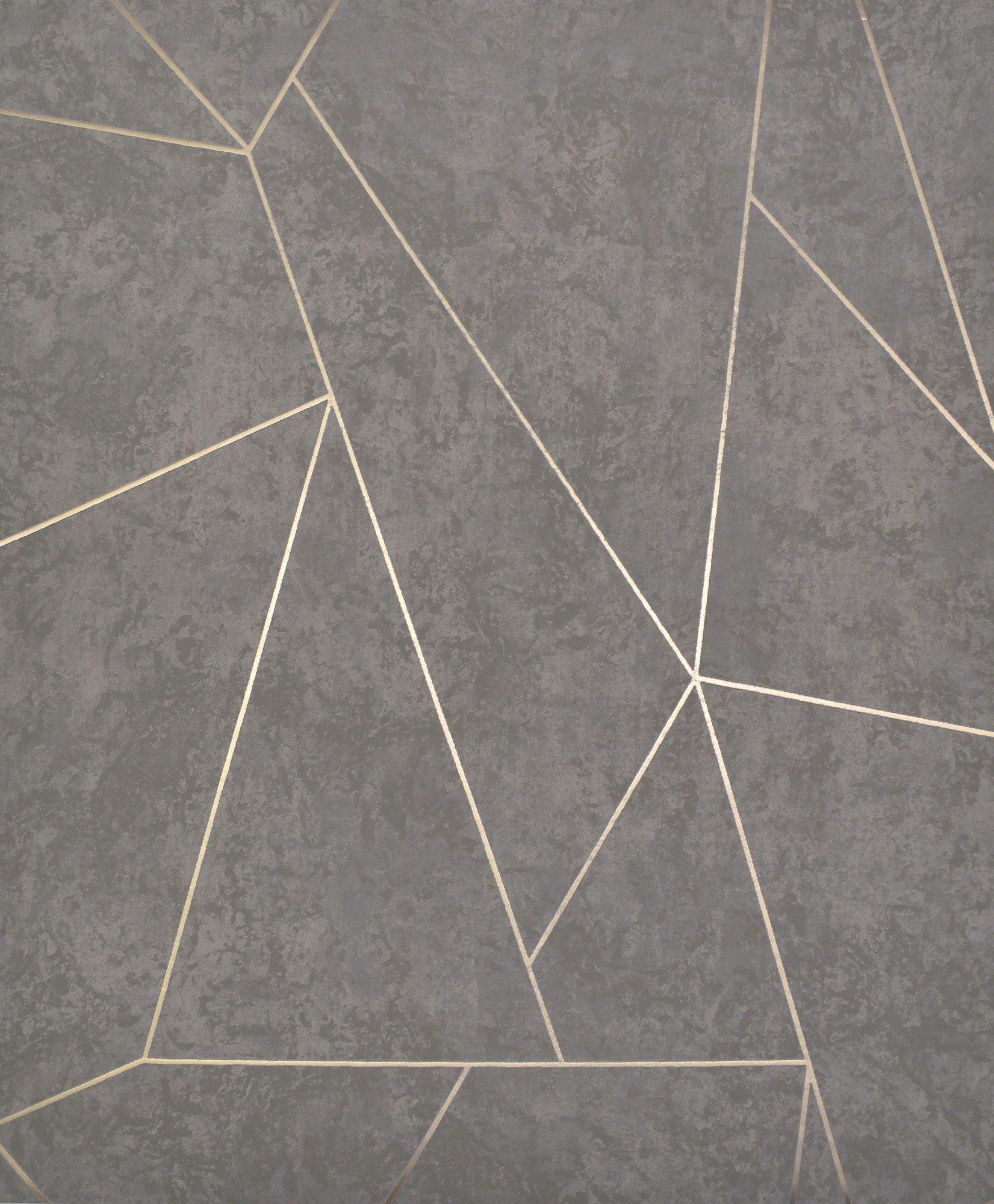 Antonina Vella Nazca Wallpaper Dark Grey & Gold