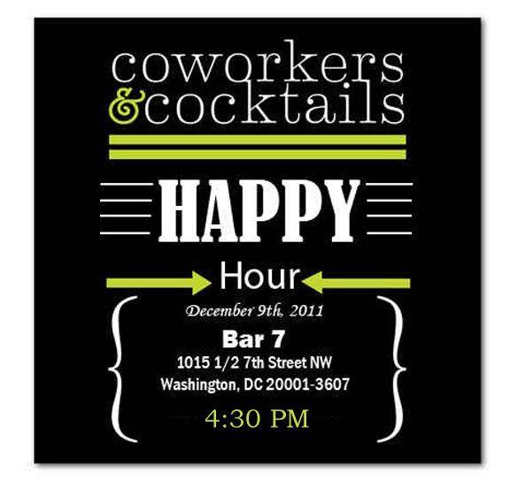 Happy Hour Invite Wording Samples Invitation Templates