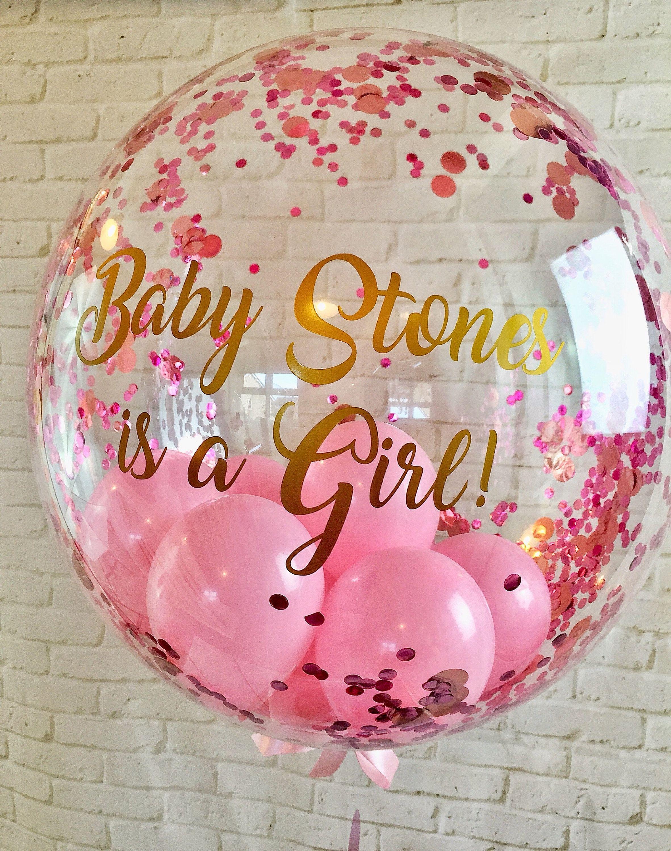 Personalised Gender Reveal Balloon It S A Girl Confetti Balloon Balloon In A Box Balloon Gif Gender Reveal Balloons Personalized Balloons Confetti Balloons