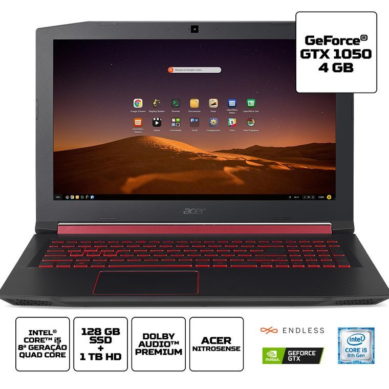 Notebook Gamer Acer Nitro 5 An515 52 5771 Intel I5 8300h 8gb Ram