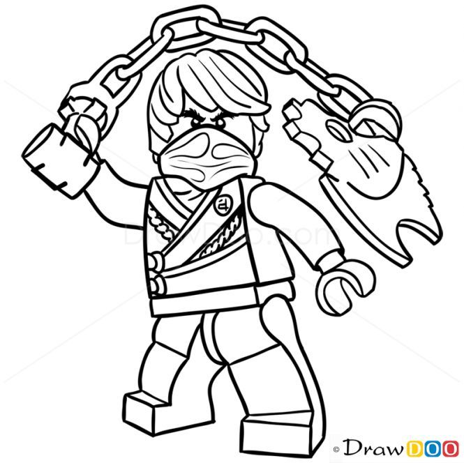 How To Draw Cole Lego Ninjago Ninjago Legodrawing Ninjago Ausmalbilder Lego Ninjago Ausmalbilder Ausmalen